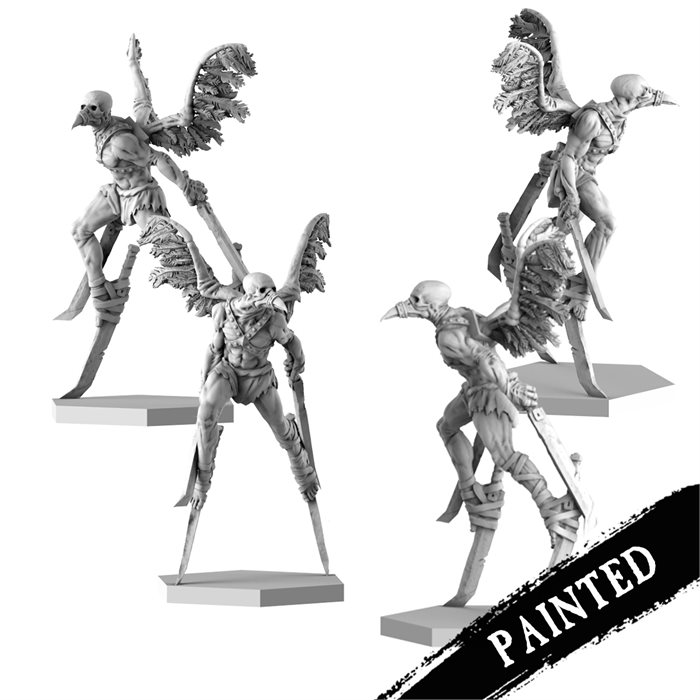Painted crow cultists
