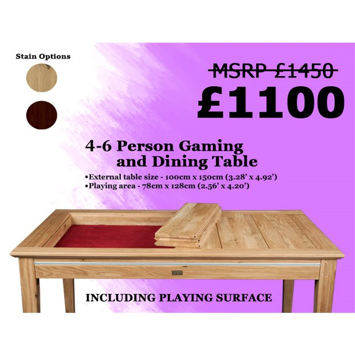 LP 4-6 person Megan Dining and Gaming Table