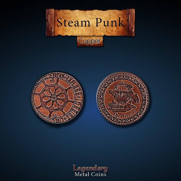 Steampunk Copper Coins