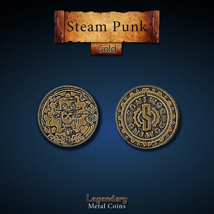 Steampunk Gold Coins