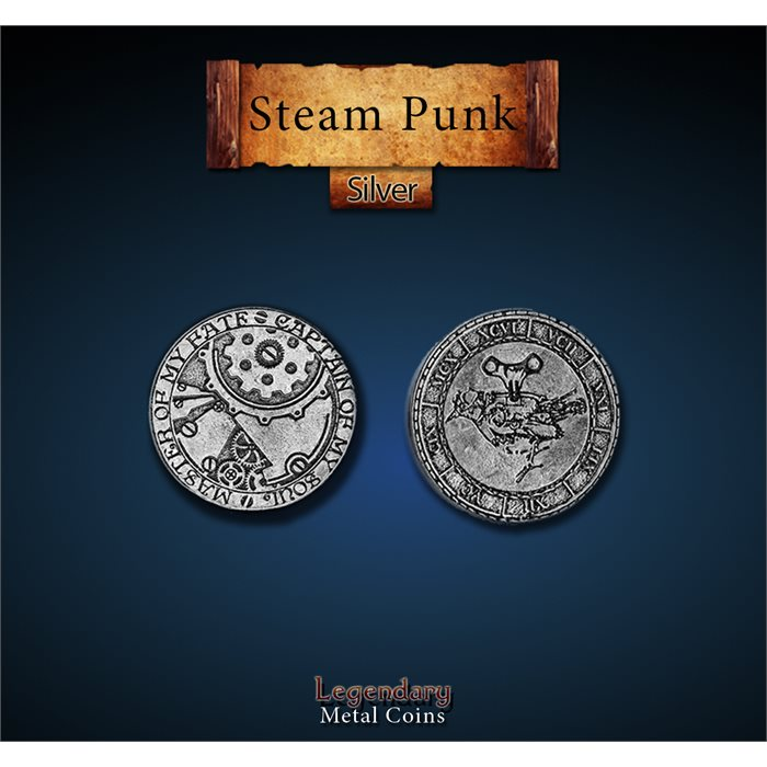 Steampunk Silver Coins