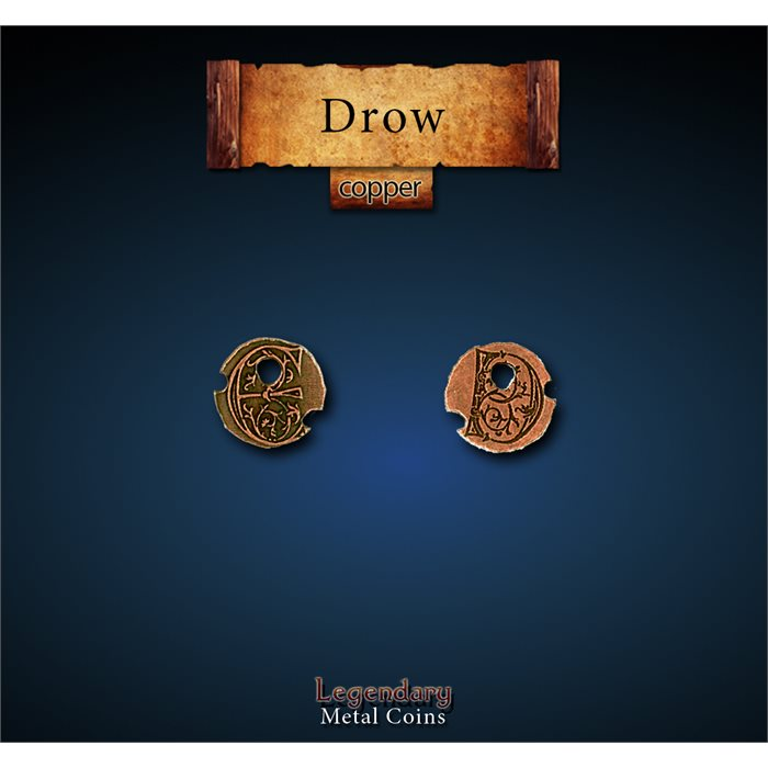 Drow Copper Coins