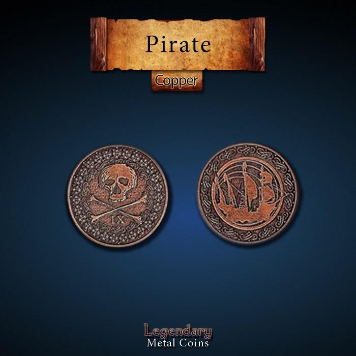 Pirate Copper Coins