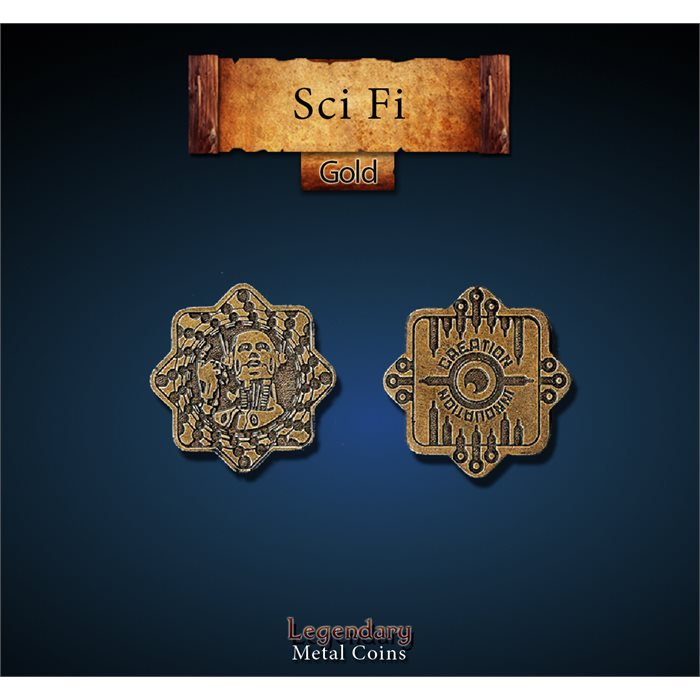 Sci Fi Gold Coins
