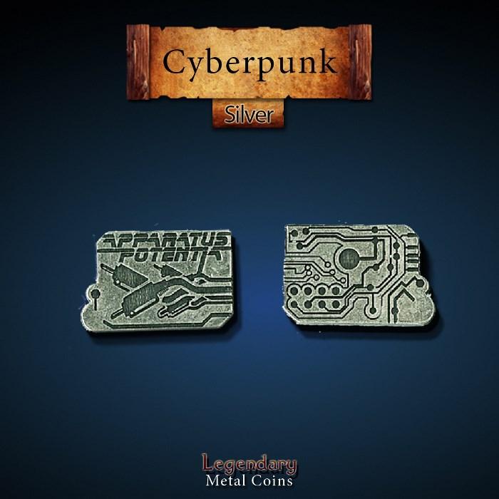 Cyberpunk Silver Coins