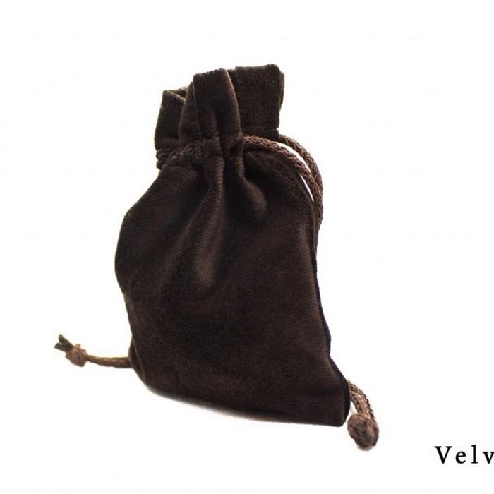 Velvet Pouch - Brown