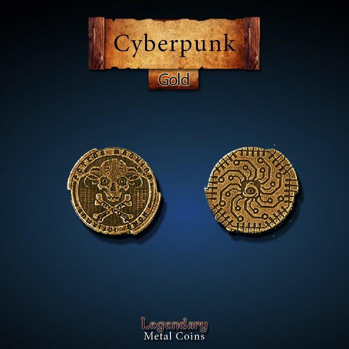 Cyberpunk Gold Coins