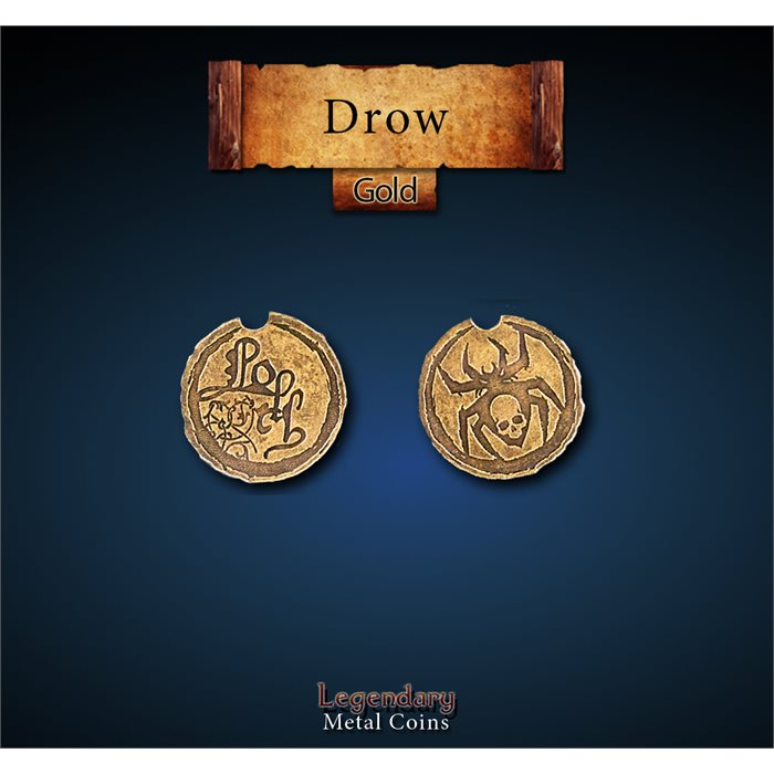 Drow Gold Coins