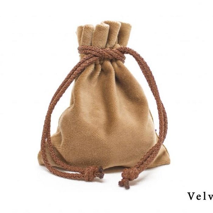 Velvet Pouch - Beige