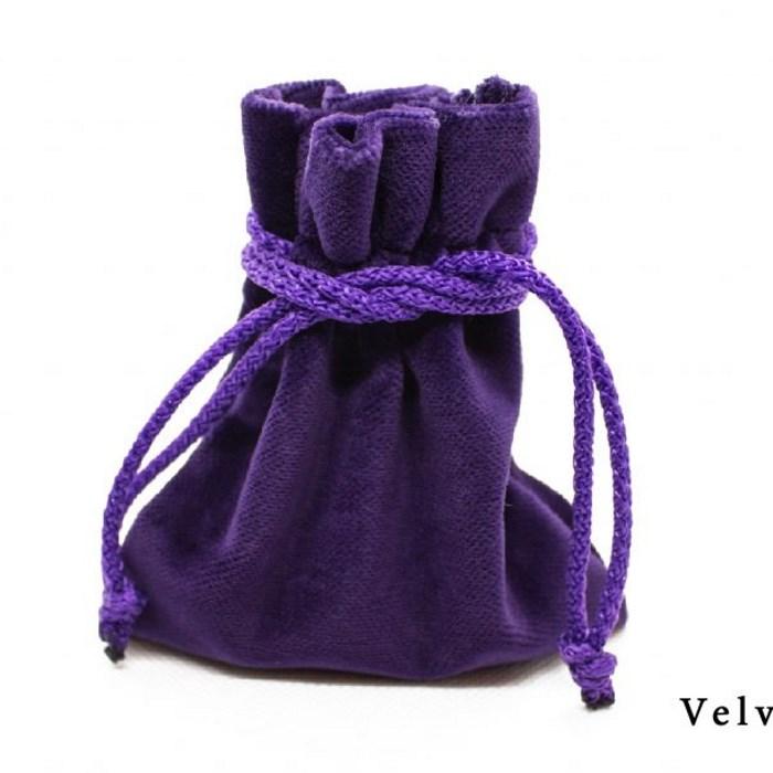 Velvet Pouch - Purple