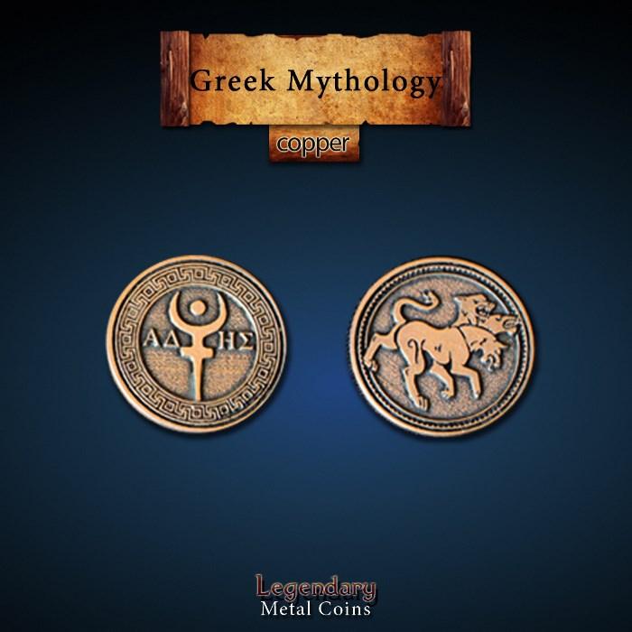 Greek Mythology Copper Coins