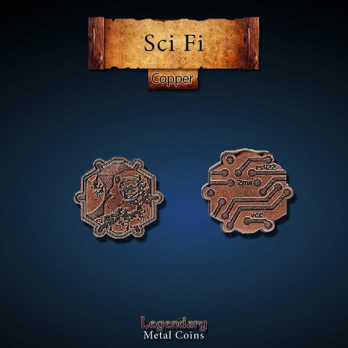 Sci Fi Copper Coins