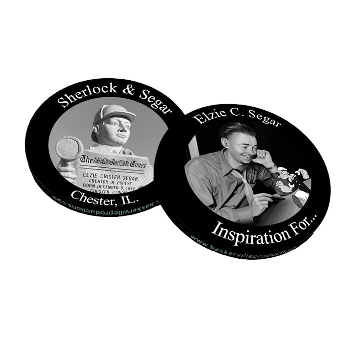 Sherlock & Segar Commemorative Chip - Popeye and Friends Character Trail
