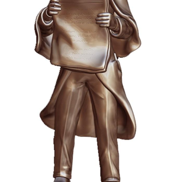 "3"" Metal Sherlock Holmes Trophy"