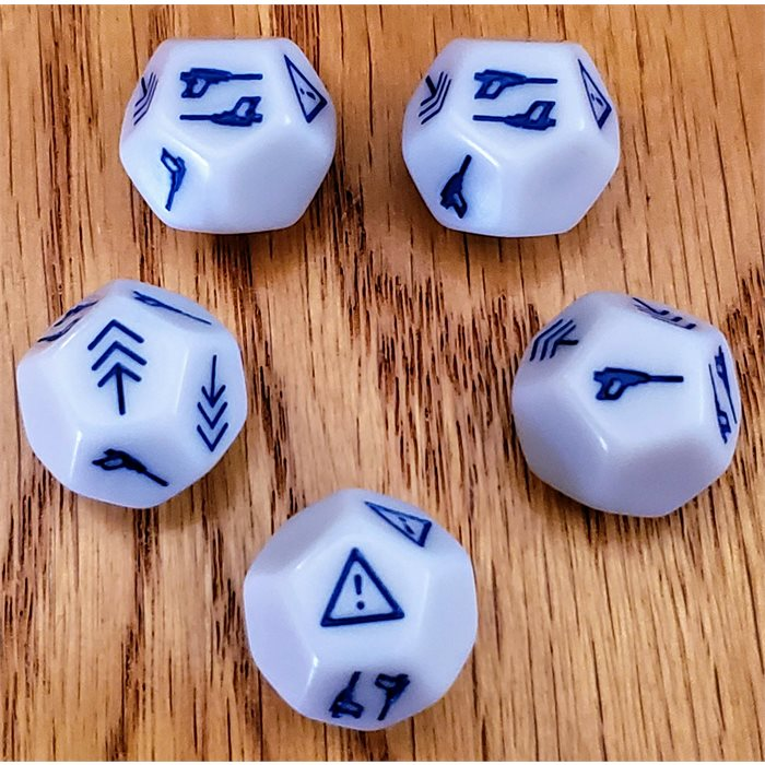 DICE ADD-ON (SET OF 24 MORE DICE - WHITE/BLUE)