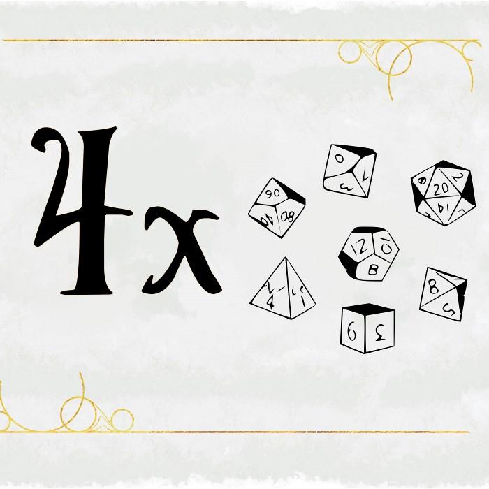 4 Dice Sets + Advantage/Disadvantage Set + d20