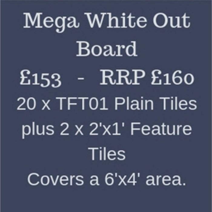 Mega White Out Terrain Board Kit