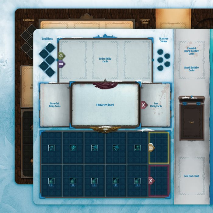 Non-Official Frosthaven and Gloomhaven compatible playmats