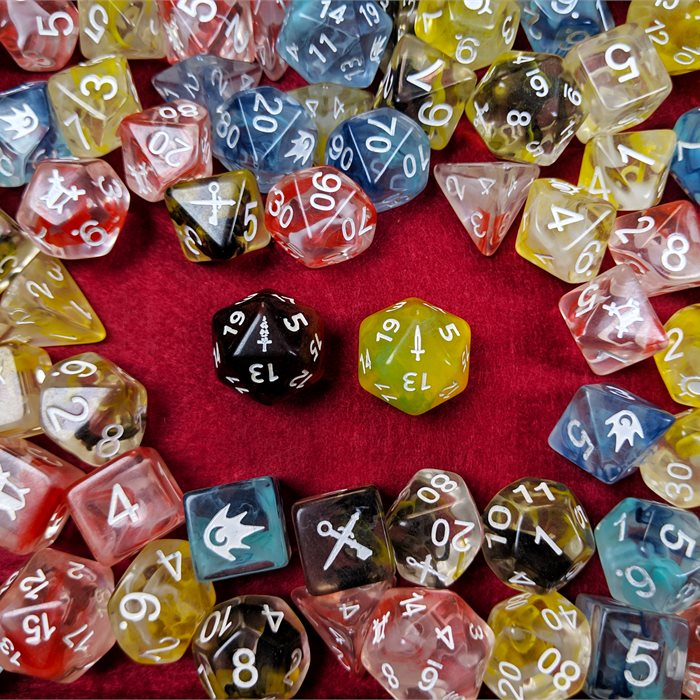 RPG Character Classes Dice Sets